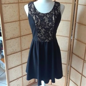 Black dress with top lace